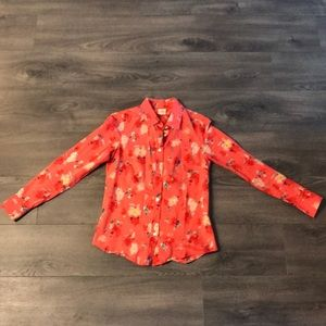Pink Floral J.Crew Button-Down